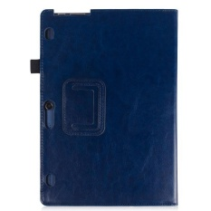 Leather Case Stand Cover for Lenovo Yoga Tab 3 10 and Tab 2 A10-70/30 Tablet Dark blue