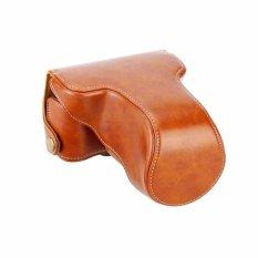 Leather Case untuk Kamera Mirrorless Fuji X-A2 & X-M1 / Fujifilm X-A2 & X-M1 - Coklat