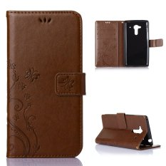 Leather Case Wallet Card Cover for Acer Liquid Z5(Coffee) - intl