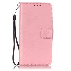 Kulit Fashion Butterfly Bunga Flip Dompet Pu Penutup Telepon untuk Samsung GALAXY Grand Prime G530 (