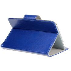 Leather Flip Case Cover untuk ZTE Blade Vec 4g Biru Klasik