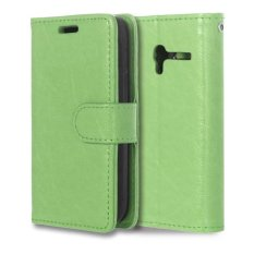 Leather Flip Cover Case untuk Alcatel One Touch Pixi 3 Ot4009e 3.5 Inch (hijau)-Intl
