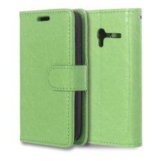 Leather Flip Cover Case untuk Alcatel One Touch Pixi 3 Ot4009e 3.5 Inch (hijau)-Intl