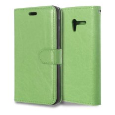 Leather Flip Cover Case untuk Alcatel One Touch POP 3 5.0 Inch (hijau)-Intl