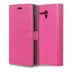 Leather Flip Cover Case for Alcatel One Touch Pop 3 5.5 inch (Hot Pink) - intl