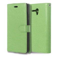 Leather Flip Cover Case untuk Alcatel One Touch POP 3 5.5 Inch (Hijau)-Intl