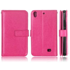 Leather Flip Cover Case for Huawei Ascend G620S/ Honor 4 Play (Hot Pink) - intl