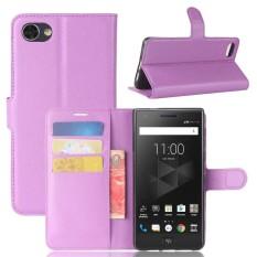 Leather Flip Cover Case Wallet Card Holder For BlackBerry Motion - intl