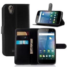 Kulit Lipat Penutup Ponsel Case Dompet Kartu Penahan untuk Acer Liquid Z630-Internasional