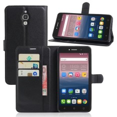 Leather Flip Cover Phone Case Wallet Card Holder For Alcatel Pixi 4 3G / 6.0