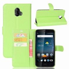 Kulit Flip Penutup Ponsel Case Dompet Card Holder untuk ZTE Blade V8 Pro (Hijau)-Intl