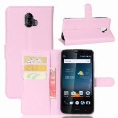 Kulit Flip Penutup Ponsel Case Dompet Card Holder untuk ZTE Blade V8 Pro (Pink)-Intl