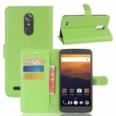 Kulit Flip Penutup Ponsel Case Dompet Card Holder untuk ZTE Max XL/N9560 (Hijau)-Intl