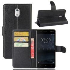 Toko Kulit Flip Penutup Pelindung Case Untuk Nokia 3 Hitam Intl Termurah Tiongkok