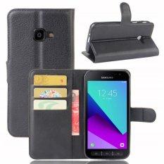Taoyi Kualitas Tinggi Kulit Flip Kotak Sarung Pelindung untuk Samsung Galaxy Xcover 4/G390F (Hitam)-Intl