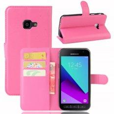 Taoyi Berkualitas Tinggi Kulit Flip Penutup Pelindung Case untuk Samsung Galaxy Xcover 4/G390F (Rose Merah) -Intl