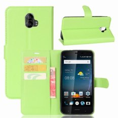 Leather Flip Cover Protective Case For ZTE Blade V8 Pro (Green) - intl