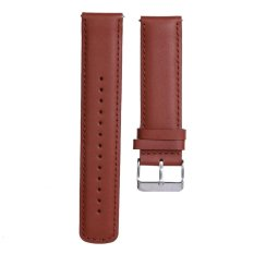 Leather Replacement Sport Watch Wrist Band Strap untuk Cookoo2 Watch (Brown)-Intl