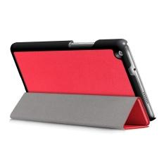Leather Slim Folding Stand Case Cover untuk Huawei MediaPad M3 Lite 8 Inch 2017 WR-Intl