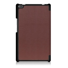 Leather Slim Folding Stand Painted Case Cover untuk Lenovo TAB 4 8 (2017) 8 Inch BW-Intl
