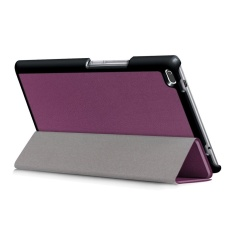 Leather Slim Folding Stand Painted Case Cover untuk Lenovo TAB 4 8 (2017) 8 Inch PP-Intl