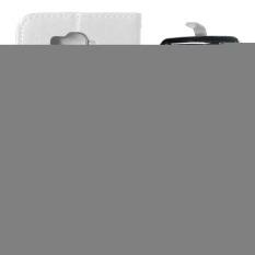 Dompet Kulit Flip dengan Pemegang Kartu Kredit untuk Alcatel One Touch POP C7 OT-7040/7041D (silver)