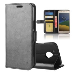 Leather Wallet Case Flip Stand Function Magnetic Closure Cover for Motorola Moto E4 Plus (American Version)