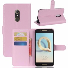 Leather Wallet Case for Alcatel A7 Case Silicon Soft Litchi Flip Back Cover for Funda Alcatel A7 Case 5.5inch - intl