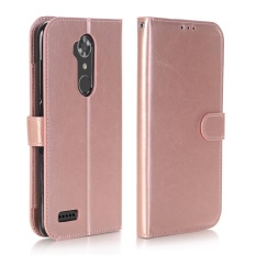 Dompet Kulit Case Magnetic Flip Stand Cover untuk ZTE Max XL N9560 (Rose Gold)-Intl