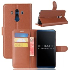 Dompet Kulit Flip Cover Card Holder Case untuk HUAWEI Mate 10 Pro/Mate 10 Porsche-Intl