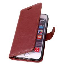 Dompet kulit flip penutup dengan kartu kredit Pemegang ID untuk Apple iPhone 6/6S (Coklat)