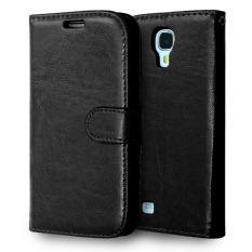 Kulit dengan Pemegang Kartu Kredit untuk Samsung Galaxy S4 I9500 (Hitam)