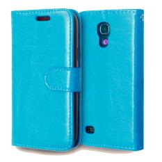 Kulit dengan Pemegang Kartu Kredit untuk Samsung Galaxy S4 Mini (Biru)