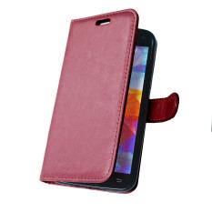 Kulit dengan Pemegang Kartu Kredit untuk Samsung Galaxy S5 I9600 (Merah)