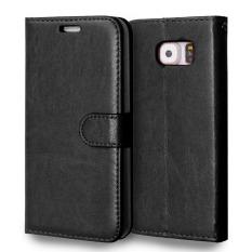 Kulit dengan Pemegang Kartu Kredit untuk Samsung Galaxy S6 (Hitam)