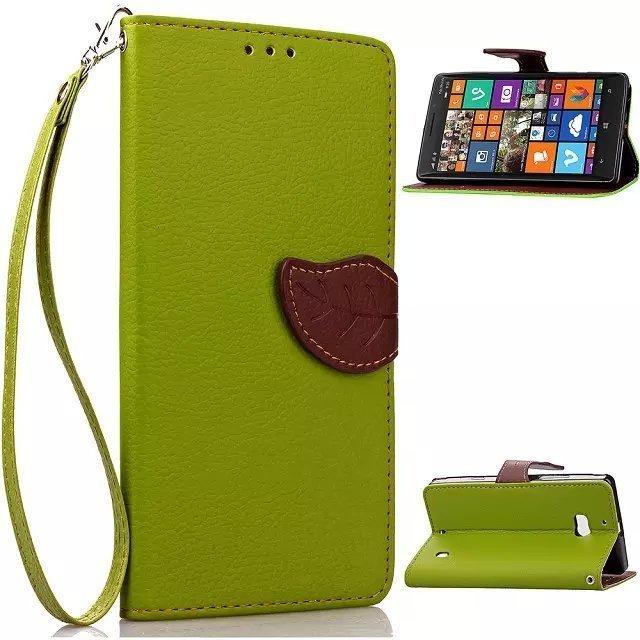 Daun Gesper Flip Dompet Kulit Tutup untuk Nokia Lumia 930 (Hijau)-Intl