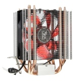 Ulasan Lengkap Led 4 Heat Pipe Quiet Cpu Cooler Radiator Heatsink For Intel Lga 1155 1156 Amd Red Intl