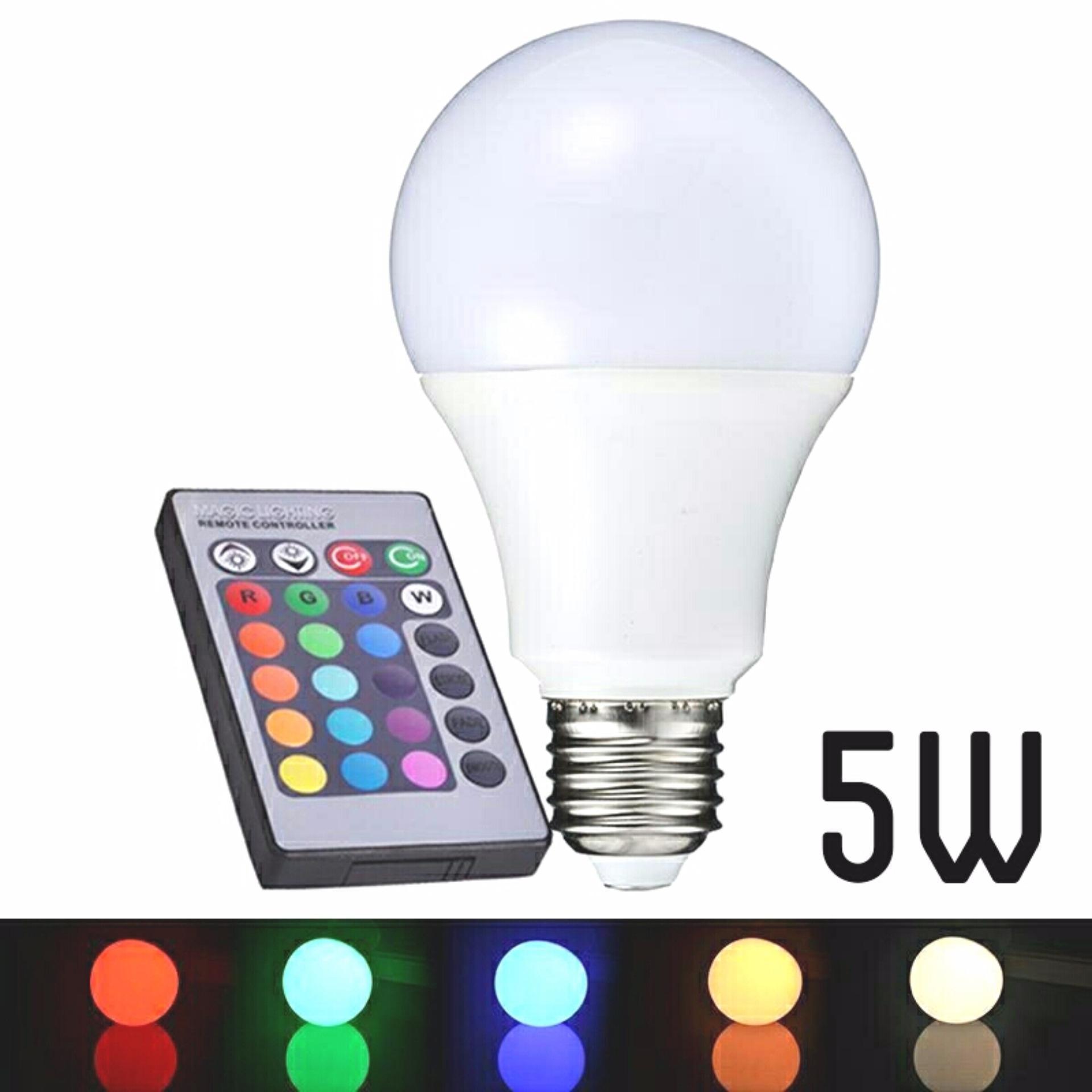 Beli Led Color 16 Warna 5 Watt Dengan Remote Control Baru