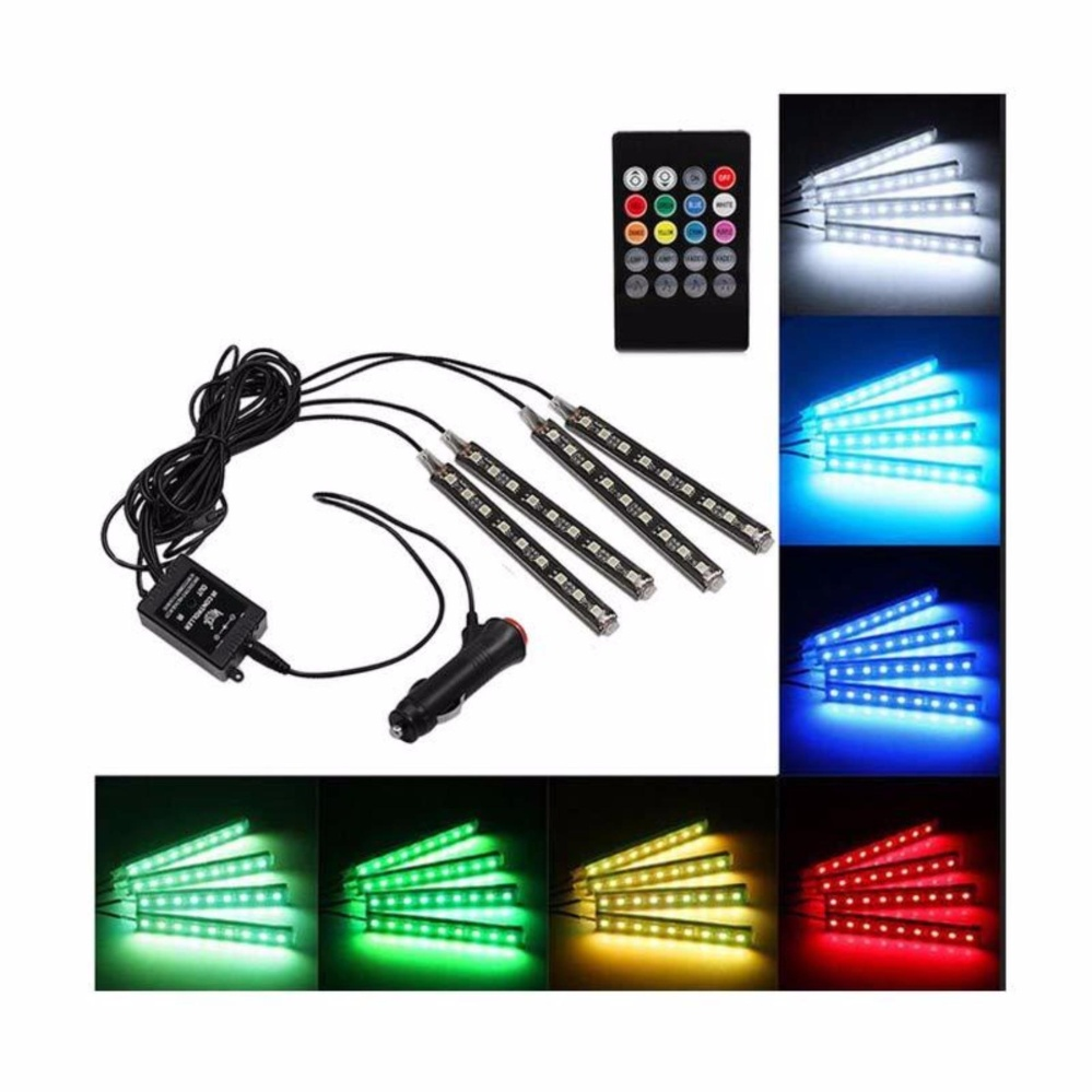 Review Pada Led Kolong Jok Dashboard Mobil Lampu Led Neon Rgb With Remote Control Universal