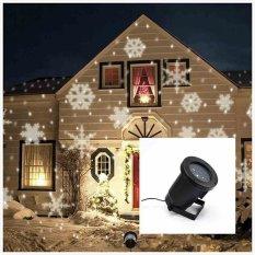 LED Light Auto Moving Snowflake Proyektor Dekorasi Natal Indoor Outdoor-Intl