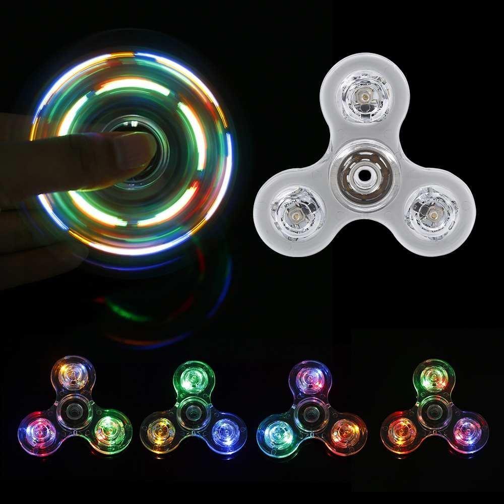 Buy Sell Cheapest Lampu Led Glitter Best Quality Product Deals Spiner Nyala Gelisah Spinner Jari Fokus Gyro Mainan Edc Adhd Autism Intl