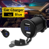 Dapatkan Segera Led Light Usb Cable Fast Car Charger For Samsung Galaxy S6 S7 Edge Note5 4 Blue Bi312