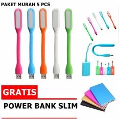 Beli Led Light Usb Lampu Led Usb Fleksibel Paket Hemat 5Pcs Free Power Bank Slim Murah