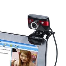 Lampu LED Webcam HD 12 Megapiksel Kamera Rotating Stand untuk Komputer PC Laptop-Intl