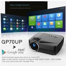 LED MINI Proyektor GP70-UP with built-in ANDROID (Gholic)