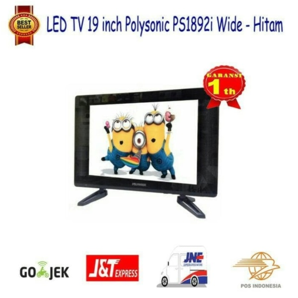 LED TV 19 inch Polysonic PS1892i Wide -Hitam-SALE