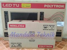 Led Tv Polytron 32 Inch 32T7511&Tower Speaker Usb Movie Murah