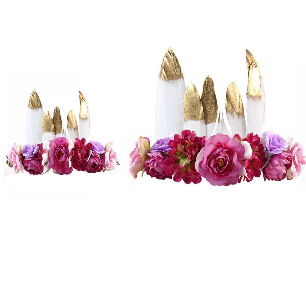 bayi balita anak band aksesoris rambut bando bunga hadiah HEADWEAR Berwarna Merah Muda . Source ·