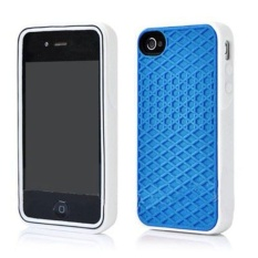 Leegoal Blue with White Side Silicone Rubber Sole Vans Waffle CaseCover for IPhone5/5S