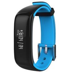 Leegoal Bluetooth Smart Band P1 Denyut Jantung Tekanan Darah Kebugaran Pedometer Trek Gelang Olahraga Cicret Gelang-Intl